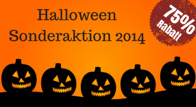 Halloween Aktion 75% Rabatt Rabattaktion